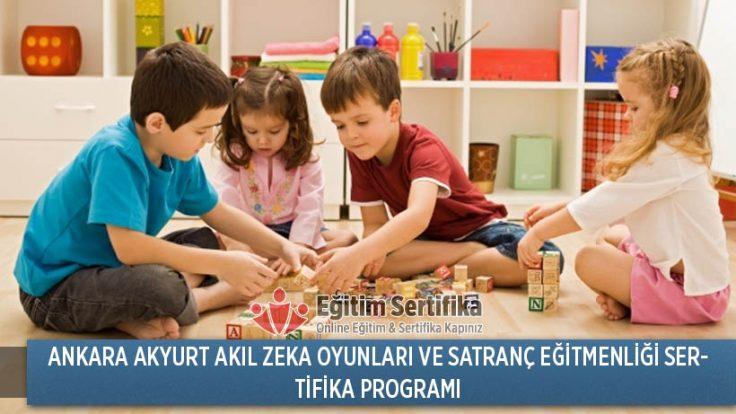 Akıl Zeka Oyunları ve Satranç Eğitmenliği Sertifika Programı Ankara Akyurt