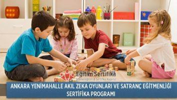 Akıl Zeka Oyunları ve Satranç Eğitmenliği Sertifika Programı Ankara Yenimahalle