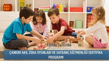 Akıl Zeka Oyunları ve Satranç Eğitmenliği Sertifika Programı Çankırı