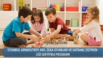 İstanbul Arnavutköy Akıl Zeka Oyunları ve Satranç Eğitmenliği Sertifika Programı