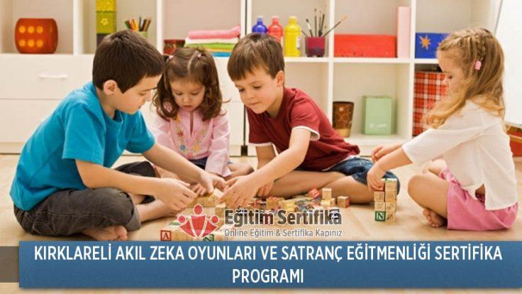 Akıl Zeka Oyunları ve Satranç Eğitmenliği Sertifika Programı Kırklareli
