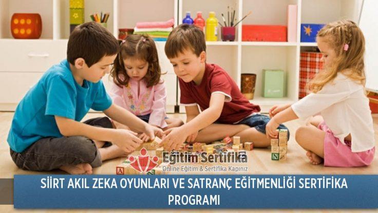 Siirt Akıl Zeka Oyunları ve Satranç Eğitmenliği Sertifika Programı