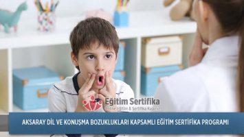 Dil ve Konuşma Bozuklukları Kapsamlı Eğitim Sertifika Programı Aksaray
