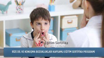 Dil ve Konuşma Bozuklukları Kapsamlı Eğitim Sertifika Programı Rize