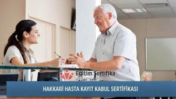 Hasta Kayıt Kabul Sertifika Programı Hakkari